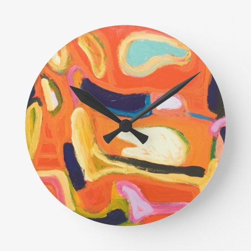 Interior rojo (expresionismo abstracto) relojes
