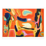 Interior rojo (expresionismo abstracto) tarjeta postal