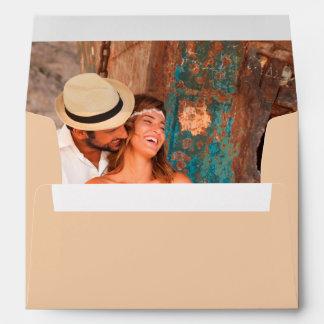 Interior romántico personalizado de la imagen de sobres
