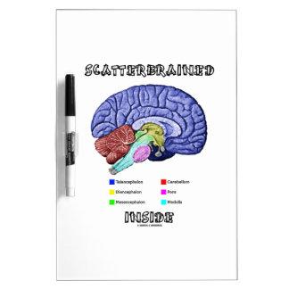 Interior Scatterbrained humor del cerebro Tablero Blanco