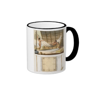 Interior scene depicting indians (colour engraving coffee mug