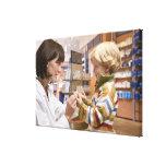 interior shots of a pharmacy canvas print