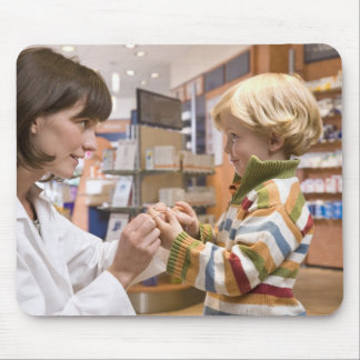 interior shots of a pharmacy mouse pad