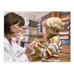 interior shots of a pharmacy postcard
