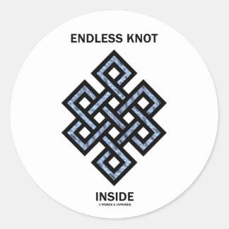 Interior sin fin del nudo psique psicología etiqueta redonda