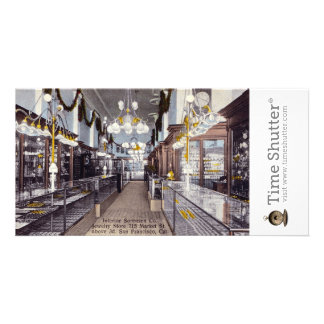 Interior Sorensen Co Jewelry Store Photo Card