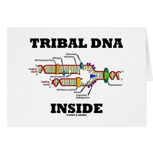 Interior tribal de la DNA (réplica de la DNA) Tarjetón
