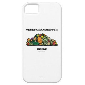 Interior vegetariano de la materia (pila de iPhone 5 funda