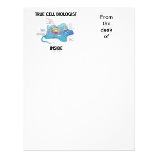 Interior verdadero del biólogo de célula (eucariot plantilla de membrete