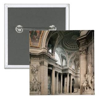 Interior view, 1764-1812 pinback button