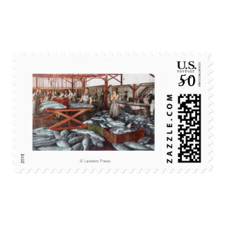 Interior View of a Salmon Cannery Postage