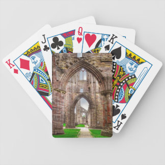 Interior View of Ancient Tintern Abbey Wales, UK Bicycle Playing Cards