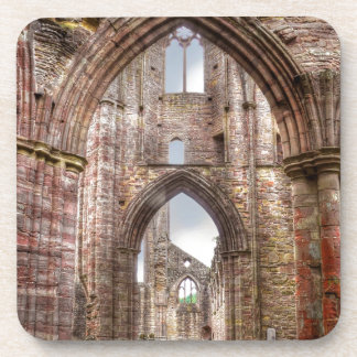 Interior View of Ancient Tintern Abbey Wales, UK Drink Coaster