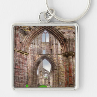 Interior View of Ancient Tintern Abbey Wales, UK Keychain