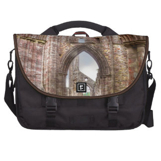 Interior View of Ancient Tintern Abbey Wales, UK Laptop Messenger Bag