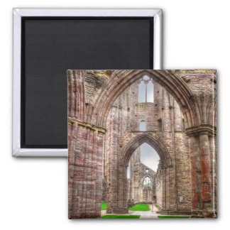 Interior View of Ancient Tintern Abbey Wales, UK Magnet