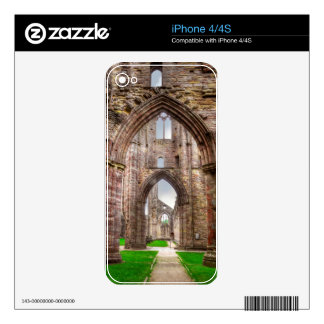 Interior View of Ancient Tintern Abbey Wales, UK Skin For iPhone 4S