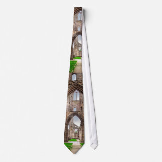 Interior View of Ancient Tintern Abbey Wales, UK Tie