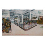 Interior View of Augustine & Kyer Bakery Poster