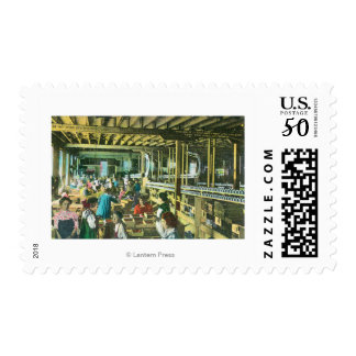 Interior View of Flickenger's Orchard Cannery Postage