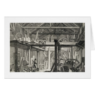 Interior View of John Bunyan's Meeting House in Zo Card