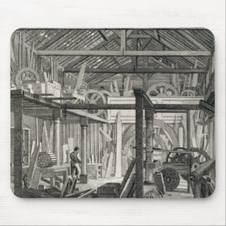 Interior View of John Bunyan's Meeting House in Zo Mouse Pad