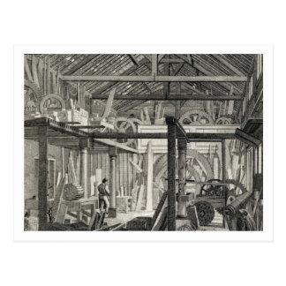 Interior View of John Bunyan's Meeting House in Zo Postcard