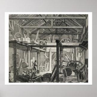 Interior View of John Bunyan's Meeting House in Zo Poster