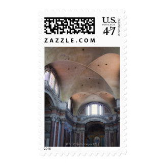 Interior view of Santa Maria degli Angeli in Postage