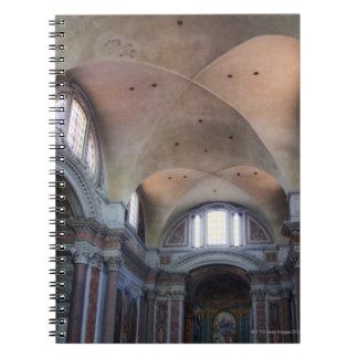 Interior view of Santa Maria degli Angeli in Spiral Notebook
