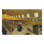 Interior View of Sunset Bowling Center Poster