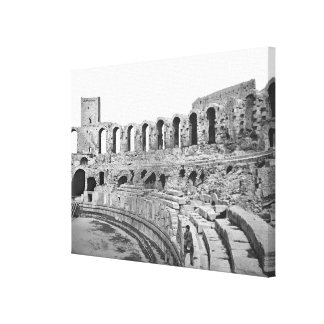 Interior view of the amphitheatre stretched canvas print