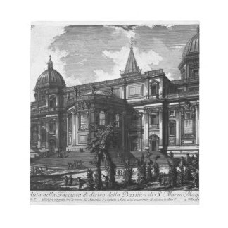 Interior view of the Basilica of St. Maria Maggior Notepad