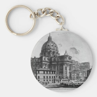 Interior view of the Basilica of St. Peter Keychain