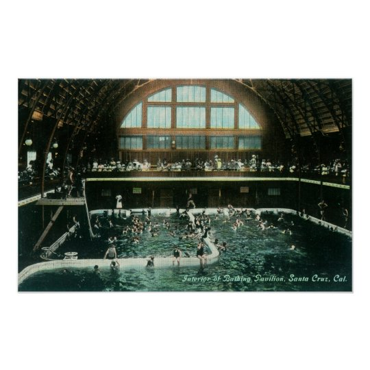 Interior View of the Bathing Pavilion Poster