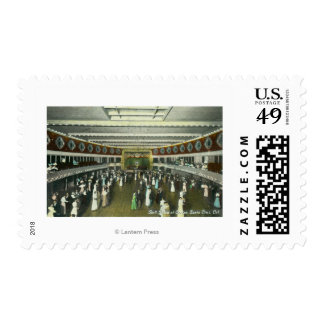 Interior View of the Casino Ball Room Postage