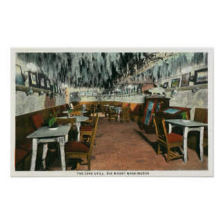 Interior View of the Cave Grill Posters