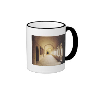 Interior view of the cloister, founded in 1148 coffee mugs