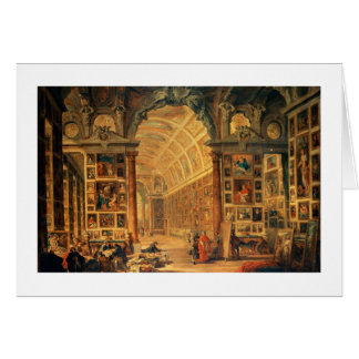 Interior View of The Colonna Gallery, Rome (oil on Card