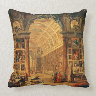Interior View of The Colonna Gallery, Rome (oil on Throw Pillow