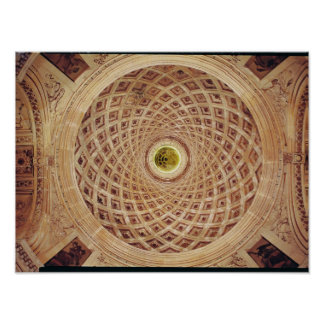 Interior view of the cupola in the chapel poster