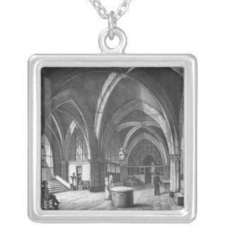 Interior view of the entrance room silver plated necklace