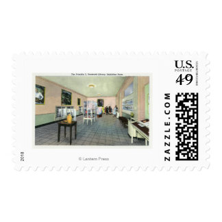 Interior View of the FDR Library, Exhibition Postage