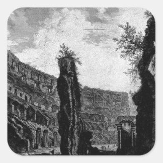 Interior View of the Flavian Amphitheatre Square Sticker