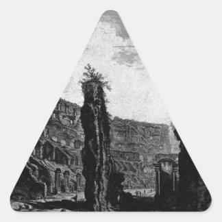 Interior View of the Flavian Amphitheatre Triangle Sticker