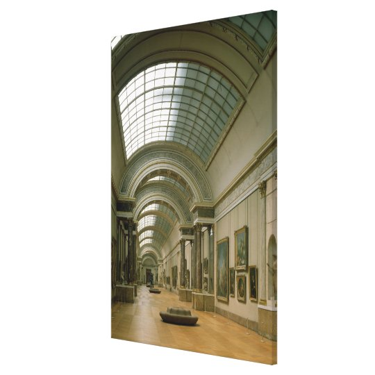 Interior view of the Grande Galerie Canvas Print