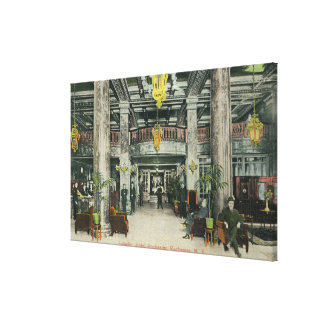 Interior View of the Hotel Rochester Lobby Canvas Print