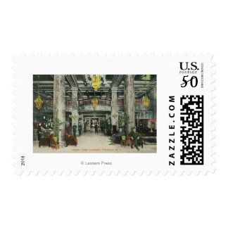 Interior View of the Hotel Rochester Lobby Postage