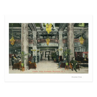 Interior View of the Hotel Rochester Lobby Postcard