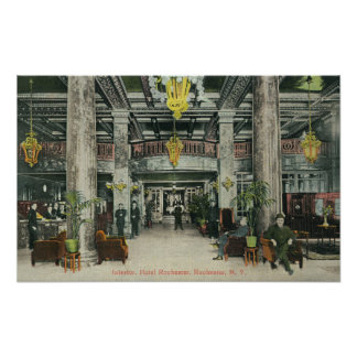 Interior View of the Hotel Rochester Lobby Poster